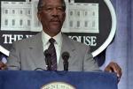 Presidente Beck (Morgan Freeman) en 'Deep Impact'(1998)