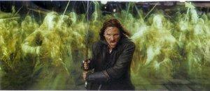 Aragorn y el ejército de los Muertos
