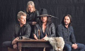 The Cult's 2012 incarnation: Billy Duffy, Chris Wyse, Ian Astbury, John Tempesta