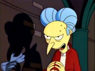 "Sr. Burns en ""Los Simpson"""