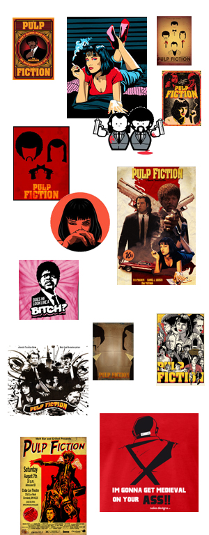 pulp fiction collage