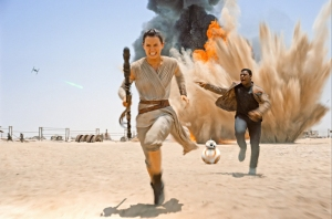 Star Wars The Force Awakens – Rey, Finn & BB-8