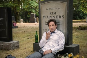 X-Files-s10e3-Mulder-and-Scully-Meet-the-Were-Monster-Kim-Manners-headstone-600x401
